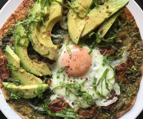 avocado toast pizza