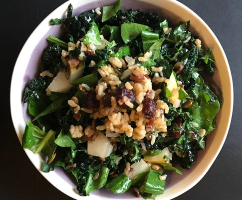 spinach & kale salad